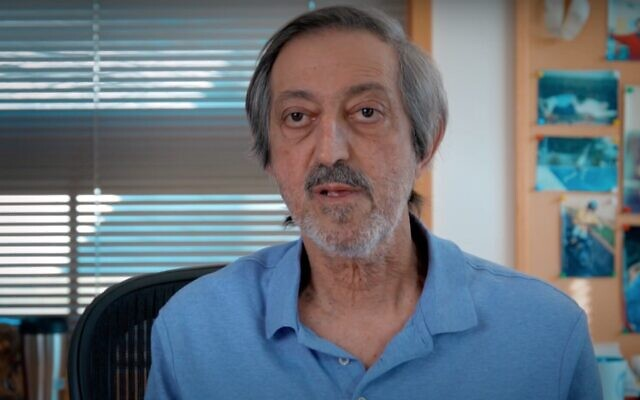 Screen capture from video of Israeli computational complexity theory researcher Avi Wigderson as he talks about being awarded the Abel Prize in 2021. (YouTube)