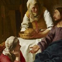 'Christ in the House of Martha and Mary,' 1655 by Johannes Vermeer (public domain)