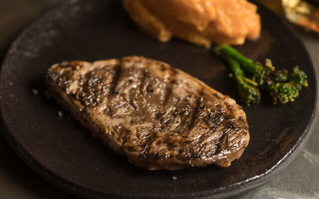 The ribeye cultured meat steak developed by Aleph Farms (Aleph Farms and Technion Israel Institute of Technology)