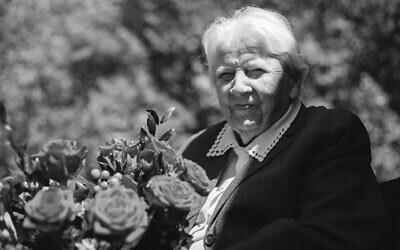 Anna Kozminska, a Polish woman believed to the be oldest living person recognized by Yad Vashem for rescuing Jews during the Holocaust. Kozminska died in March 2021 at age 101 (Polish Institute of National Remembrance)