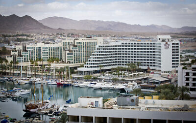 File: View of the marina in the southern Israeli city of Eilat, December 20, 2012. (Moshe Shai/FLASH90)