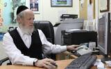 Yehuda Meshi-Zahav, chairman of the ZAKA emergency response organization, on February 4, 2010.  (Yaakov Naumi/Flash90)