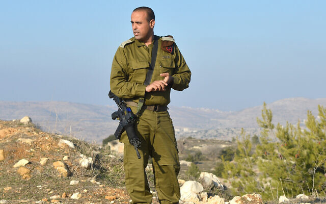 Then-commander of the Judea and Samaria Division Tamir Yadai during an interview on January 6, 2014. (Yossi Zeliger/Flash90)