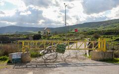 View of the Israeli-Jordanian border on February 10, 2020. (David Cohen/Flash90)