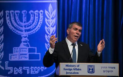 Minister Of Foreign Affairs Gabi Ashkenazi at the Ministry of Foreign Affairs in Jerusalem on June 10, 2020.  (Olivier Fitoussi/Flash90)