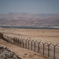 View of the border between Israel and Jordan, in the Jordan valley, in the West Bank, on June 17, 2020. (Yaniv Nadav/Flash90)