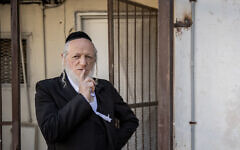 Yehuda Meshi Zahav poses for a picture in Jerusalem on January 19, 2021. (Yonatan Sindel/Flash90)