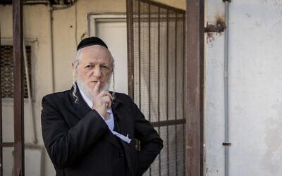 Yehuda Meshi Zahav poses for a picture in Jerusalem on January 19, 2021. (Yonatan Sindel/Flash90)