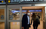Coronavirus czar Nachman Ash at Ben Gurion Airport on March 1, 2021. (Tomer Neuberg/Flash90)