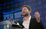 Leader of the Religious Zionism party Bezalel Smotrich, on election night, March 23, 2021. (Sraya Diamant/Flash90)