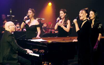 New Israeli Opera singers, from left, Goni Knaani, Daniela Skorka, Tal Ganor and Anat Czarny will appear in concert of Israeli classics when opera house reopens on March 11, 2021 (Courtesy New Israeli Opera)