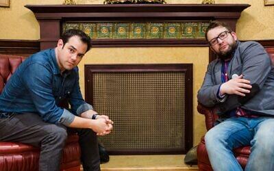 """Jamie Elman (left) and Eli Batalion, the stars of the Yiddish-language web series """"YidLife Crisis"""" (courtesy)"""