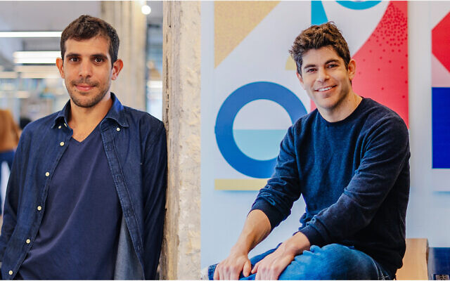 Yotpo founders, left to right, Omri Cohen and Tomer Tagrin (Mor Shani)