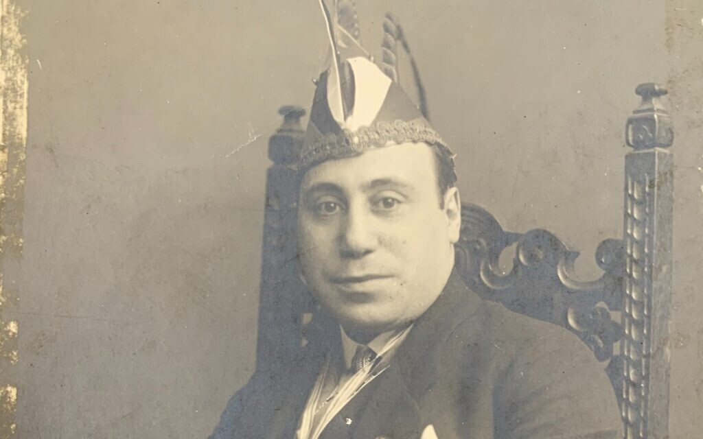 Max Solomon, dressed for participation in a pre-lent Carnival as president of the the Kleinen Kolner Klub, or Little Cologne Club, pre-1933. (Courtesy Laura Chanin/JTA)