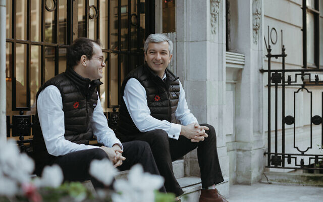 Michael Szalontay, left, and Alexander Konoplyasty, co-founders of tech investment firm Flashpoint at their London HQ (Courtesy)