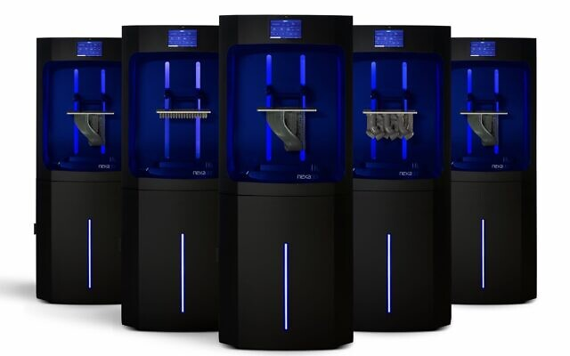 The NXE400 3D printer is the size of a fridge and up to 20 times more productive than competing machines (Nexa 3D)