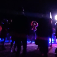 Party-goers enjoy a rave in the Negev on March 5, 2021. (Israel Police)
