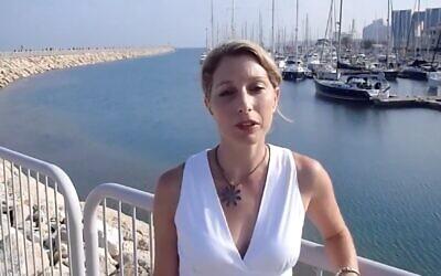 Screen capture from video of marine biologist Shimrit Perkol-Finkel. (YouTube)