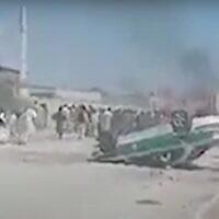 Illustrative: Violence in the Saravan border area of Sistan-Baluchistan Province, Iran, February 2021. (YouTube)