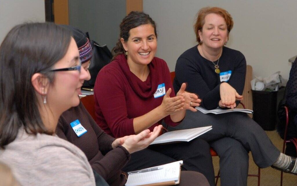 Dasee Berkowitz, center, director of Ayeka's Soulful Parenting program and author of 'Becoming a Soulful Parent' (Courtesy Ayeka)