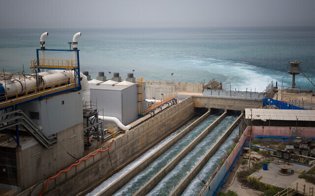 Illustrative: A desalination plant in Hadera, May 16, 2010. (AP Photo/Ariel Schalit)