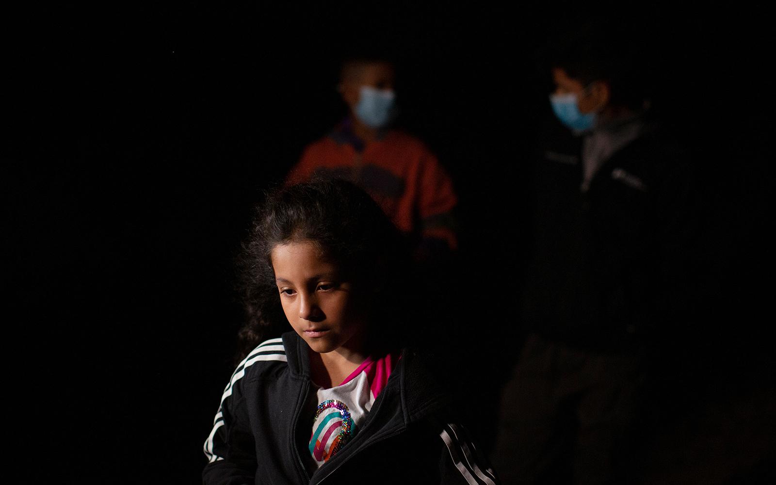 An unaccompanied minor who crossed the US border near Roma Texas