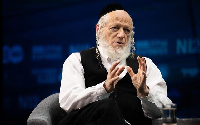 Yehuda Meshi Zahav speaks at a conference in Jerusalem, March 7, 2021. (Yonatan Sindel/Flash90)