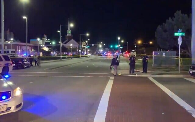 Police respond to a shooting at the Virginia Beach Oceanfront area in Virginia Beach on March 26, 2021. (Screenshot/WAVY News)