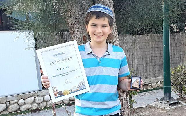 Zvi Ben-David, who found a 2,500-year-old figurine Oren Shmueli, Israel Antiquities Authority)