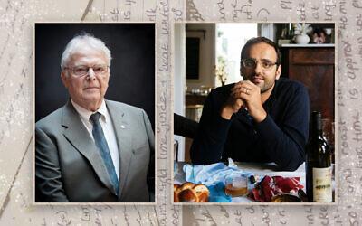 Alon Shaya, right, helped Steven Fenves experience the taste of his pre-Holocaust childhood. (US Holocaust Memorial Museum; Rush Jagoe/ via JTA)