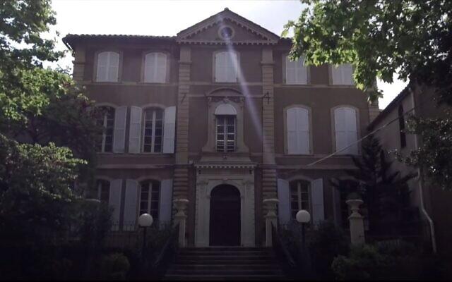 The Jewish Yavne school in Marseille, France (video screenshot)