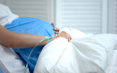 Illustrative: A pregnant woman at a hospital. (iStock via Getty Images)