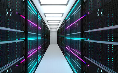 An illustrative image of a data center; server farm and a cloud service concept (noLimit46; iStock by Getty Images)