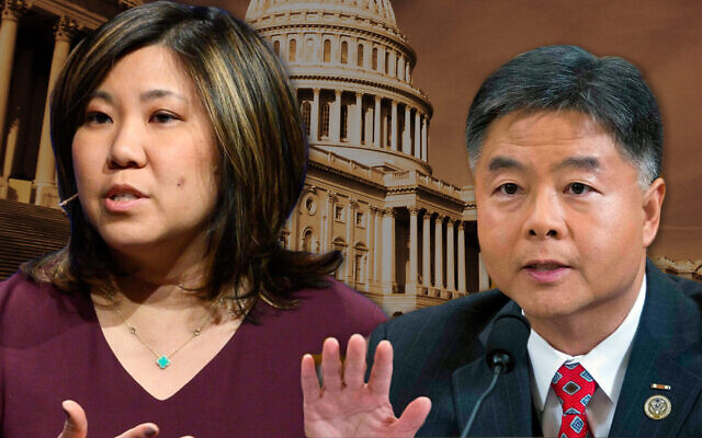 Reps. Grace Meng of New York and Ted Lieu of California (Getty Images via JTA)