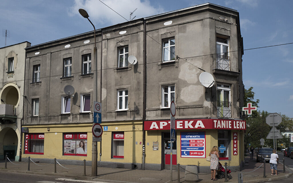 Building at Małachowskiego no. 34 (formerly no. 12) in Sosnowiec, Poland.