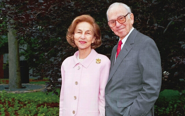 Carl J. and Ruth Shapiro (Mike Lovett/ Courtesy of Brandeis University via JTA)
