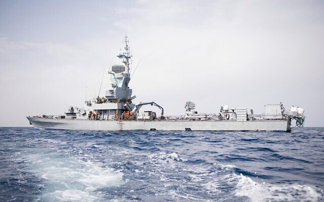 The Israeli Navy takes part in the 'Noble Dina' exercise with Greece and Cyprus in March 2021. (IDF)