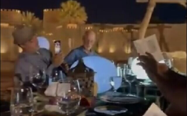 Israel's Embassy to the UAE holds its first Passover seder, March 27, 2021 (video screenshot)