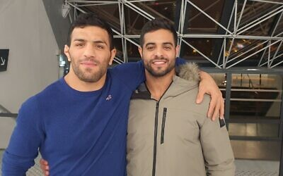 Judo champions Saeid Mollaei, left, and Sagi Muki will be featured in an MGM TV series about their friendship (Courtesy PR)