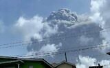 The eruption of La Soufriere Volcano from Rillan Hill in Saint Vincent. (ZEN PUNNETT / Zen Punnett / AFP)