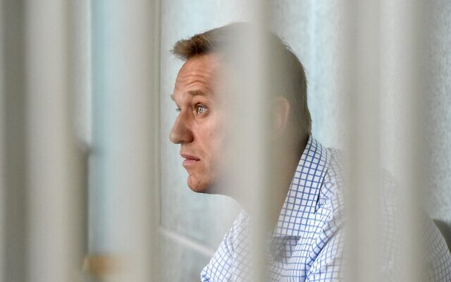 Russian opposition leader Alexei Navalny attends a hearing at a court in Moscow, June 24, 2019. (Vasily MAXIMOV / AFP)