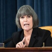 Democratic US representative Betty McCollum of Minnesota in July 2020. (Caroline Brehman/CQ-Roll Call, Inc via Getty Images via JTA)