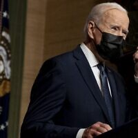 US President Joe Biden at the White House in Washington on April 14, 2021. (Andrew Harnik-Pool/Getty Images/AFP)