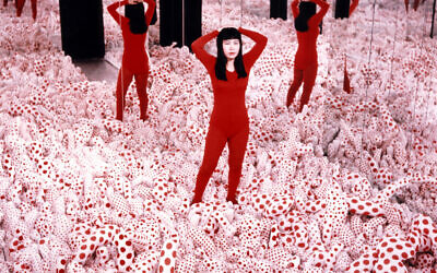 Yayoi Kusama's Infinity Mirrored Room — Love Forever, 1966/94, part of the comprehensive exhibit of her work coming to the Tel Aviv Museum of Art in November 2021. (Courtesy, Ota Fine Arts)