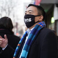 NYC mayoral candidate Andrew Yang, (Yang for New York)