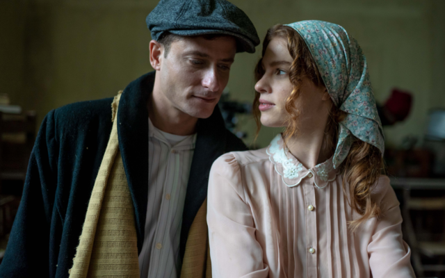 Actors Michael Aloni and Yuval Scharf in 'The Beauty Queen of Jerusalem,' a historical series produced in Israel by Yes Studios (Courtesy Nati Levi)