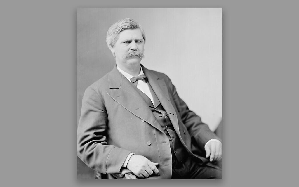 Zebulon Baird Vance served as governor and then a US senator from North Carolina until his death in 1894. In addition to owning slaves and being an outspoken supporter of the Confederacy, he also traveled the country giving a speech praising Jews. (Courtesy of Library of Congress/via JTA)