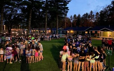 Camp Modin in Maine was one of the few Jewish camps to open last year. It plans to follow the same playbook this year. (Courtesy of Howard Salzberg/ via JTA)