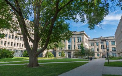 A view of the University of Iowa campus (Wikimedia Commons/via JTA)
