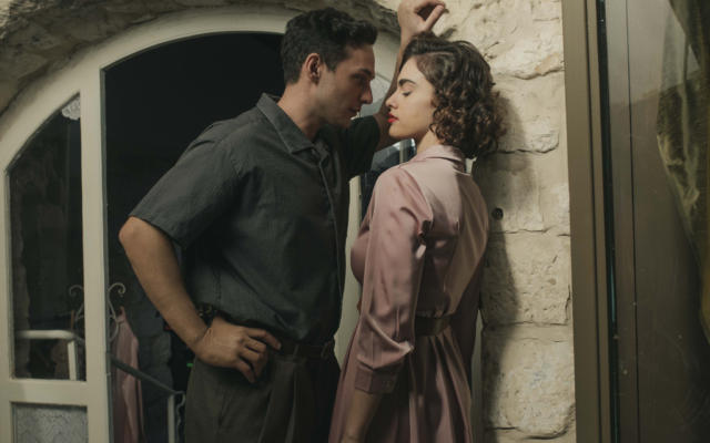 Actors Swell Ariel and Israel Ogalbo in 'The Beauty Queen of Jerusalem,' a new historical drama from Yes Studios (Courtesy Nati Levi)